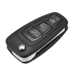 Remote Folding Flip Key Fob Shell Case 3 Buttons w/ Blade for Ford Focus 2 3 Fiesta Mondeo - Slabiti
