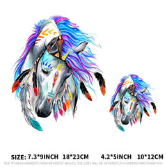 Ironing Transfers Patches Heat Press Stickers Horse Animal Patch DIY Appliques Decor Sticker - Slabiti