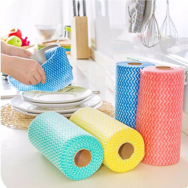 Honana HN-W1 House Cleaning Cloth Kitchen Dishcloth Multipurpose Wiping Rags Bathroom Washing Towel - Slabiti