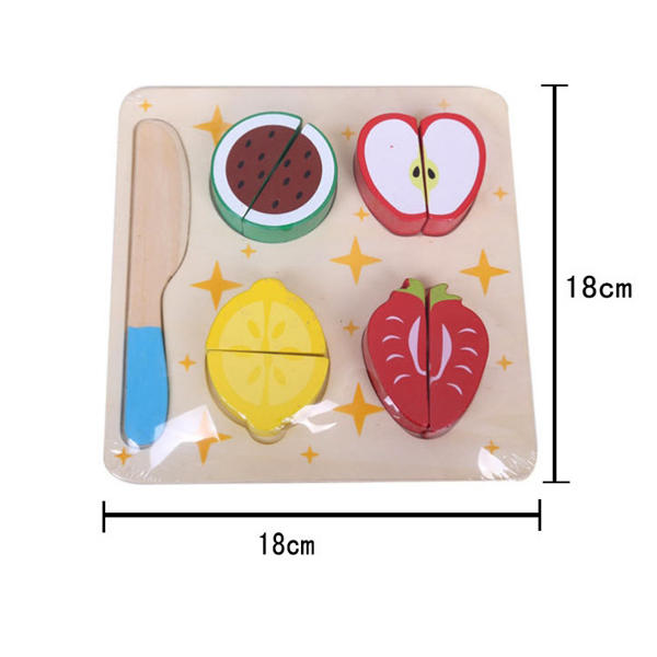 Wooden Vegetables Dessert Kids Fruits Slice Puzzles Toys - Slabiti