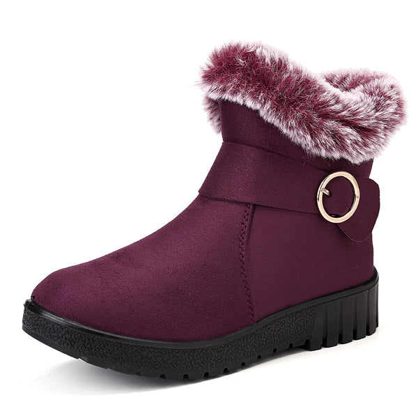 Women Warm Casual Outdoor Ankle Boots - Slabiti