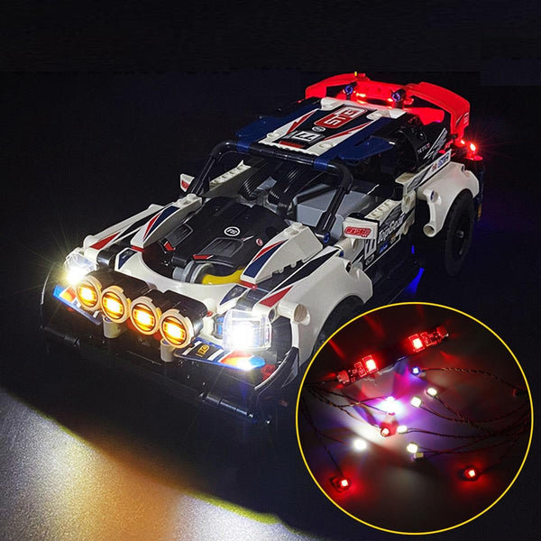 DIY LED Light Lighting Kit ONLY For LEGO 42109 Rally Car Top Gear Bricks Toys