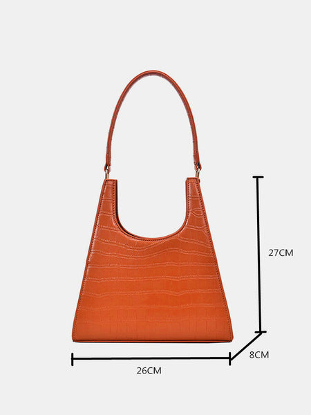 Women Fashion Alligator PU Solid Casual Shoulder Bag Handbag - Slabiti