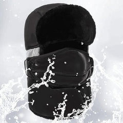 Mens Unisex Warm Thickening Full-protection Mask Face Neck Hat Winter Waterproof Skiing Cap - Slabiti