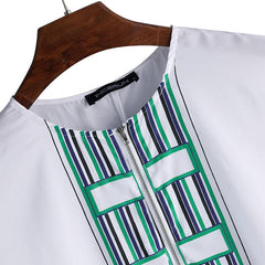 INCERUN Mens African Style Loose Short Sleeve Mid-long Shirts Tops - Slabiti