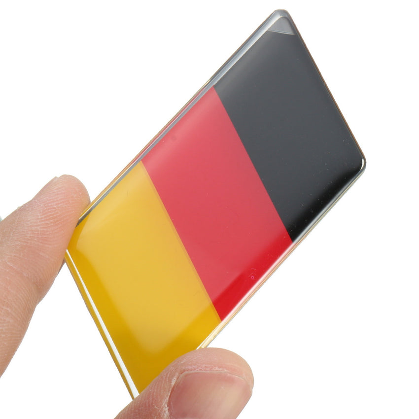6.9 x 3.2cm Aluminum Alloy Germany Flag Badge Emblem Decals Sticker For Car Trunk Front Grille Side Fender - Slabiti