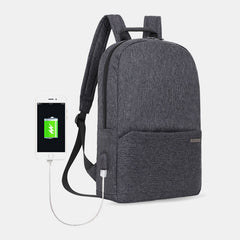 Casual Light Weight Waterproof Backpack With USB Charging Port For Outdoor - Slabiti