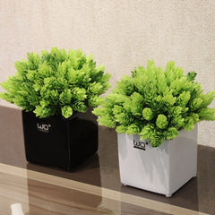 creative bonsai potted Artificial plant flowers Pineapple grass one set ( flower + vase ) for wedding Office Home Decor - Slabiti