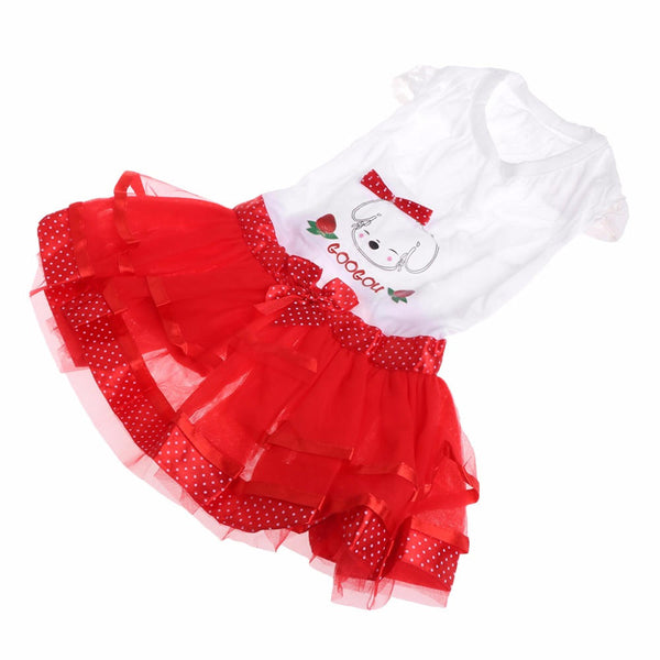 Summer Dog Dress Puppy Party Dress Bubble Fruit Doggy Colorful Skirts - Slabiti