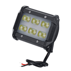 2Pcs 5D LED 18W Work Light Spot Beam Boat Truck Offroad 4WD SUV White Lamp IP67 - Slabiti