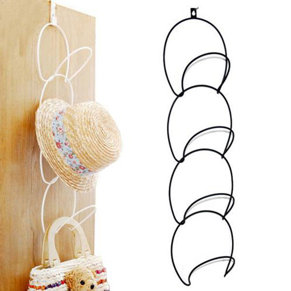 Hats Clothes Tie Interlink Holder Wire Stackable Storage Rack Kitchen Organizer Door Wall Hooks - Slabiti