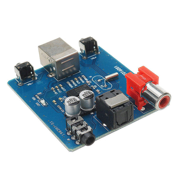 DAC Decoder PCM2704 USB To S/PDIF Sound Card Board 3.5mm Analog Output Coaxial HiFi Module - Slabiti