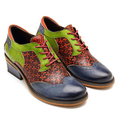SOCOFY Handmade Stitching Leather Shoes - Slabiti