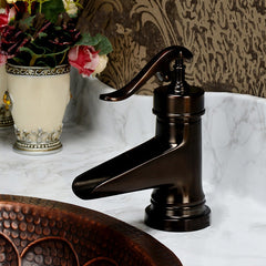 Oil Rubbed Bronze Waterfall Bathroom Basin Faucet Single Handle Hole Mixer Tap - Slabiti