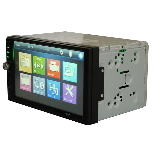 7012B 7inch 2DIN Car bluetooth Touchscreen MP3 MP4 MP5 Player Video Stereo FM Aux Input - Slabiti