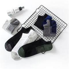 6 Pairs Set Men Cotton Breathable Casual Short Tube Socks Sweat Deodorant Sock - Slabiti