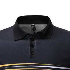 Men Stripe Muscle Fit Golf Shirt - Slabiti