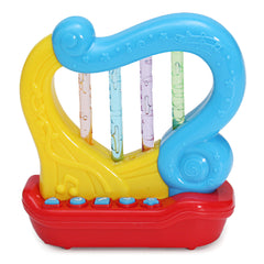 Musical Instruments Horn Harp Drum LED Light Story Telling Percussion Developmental Toy House Play - Slabiti
