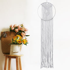 Macrame Woven Art Wall Hanging Tapestry Handmade Cotton Chic Bohemian Home Decor - Slabiti