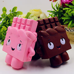 PU Simulation Of Chocolate Human Toy Squishy - Pressure Relief Toys Random Color - Slabiti