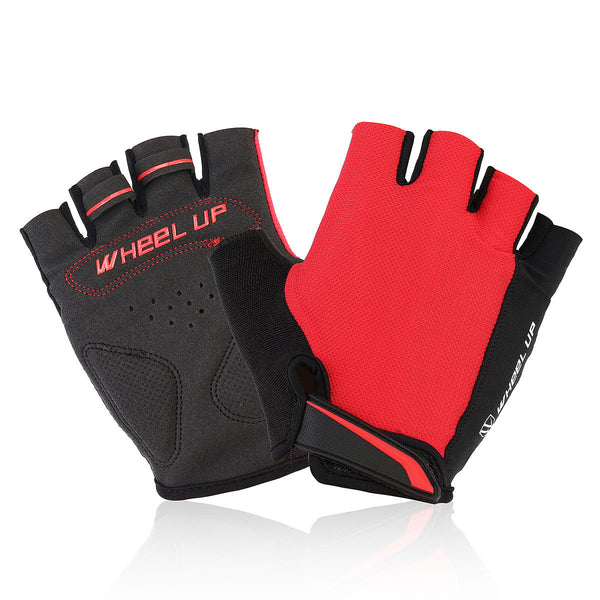 Universial Motorcycle Riding Half Fingers Fingerless Gloves Size M - Slabiti