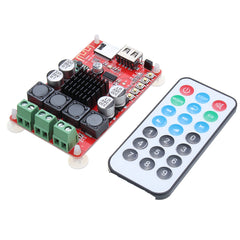 100W bluetooth Audio Receiver Amplifier Board TPA3116 Chip Support FM USB TF Card with Remote - Slabiti