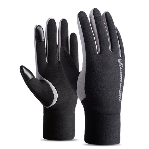 Men Women Waterproof Touchscreen Mittens Winter Warm Fleece Motorcycle Gloves - Slabiti