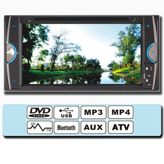 F6090 7 Inch Car DVD MP4 Player Digital Touch TFT Screen USB bluetooth AUX FM Universial for Toyota - Slabiti