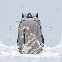 Fashion Large Capacity Waterproof Backpack Travel Bag School Bag With USB Charging Port - Slabiti