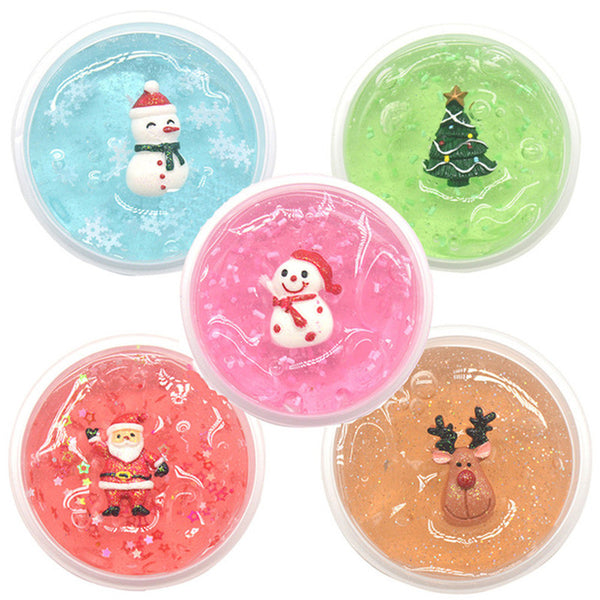 Kiibru Christmas Slime Kid Crystal Mud DIY With Slices Filler - Slabiti