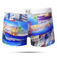 Summer Beach Printing Trunks Drawstring Beach Shorts Designer Swimwear For Men - Slabiti