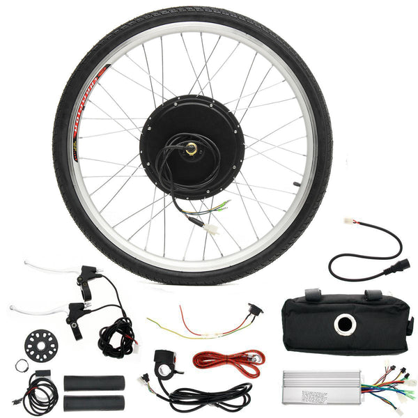LCD + 48V 1000W 26inch Hight Speed Scooter Electric Bicycle E-bike Hub Motor Conversion kit - Slabiti