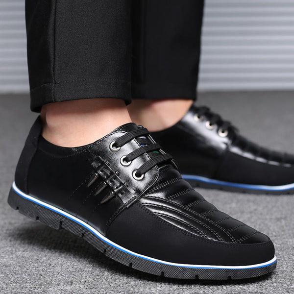 Big Size Men Microfiber Business Soft Oxfords Leather Shoes - Slabiti