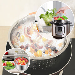 304 Stainless Steel Steam Steamer with Handle For Instant Pot Rice Pressure Cooker - Slabiti