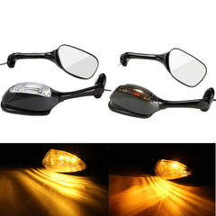 Pair LED Turn Signal Rear View Mirrors For Suzuki GSXR600 GSX-R 750 06-12 GSXR 1000 - Slabiti