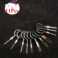 11Pcs Terminal Removal Electrical Wiring Crimp Connector Pin Extractor Kit Automobiles Terminal Repair Hand Tool Kit - Slabiti
