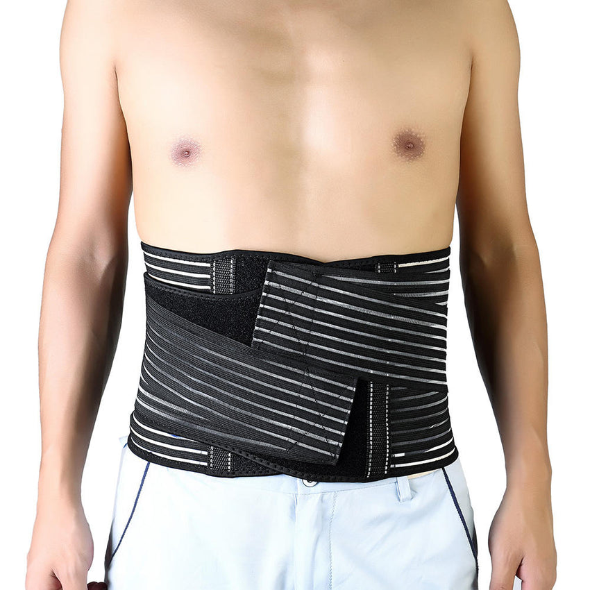 Men Women Fitness Belly Protector Waist Belt Stretchable Shaping Back Support Lumbar Support Belt - Slabiti