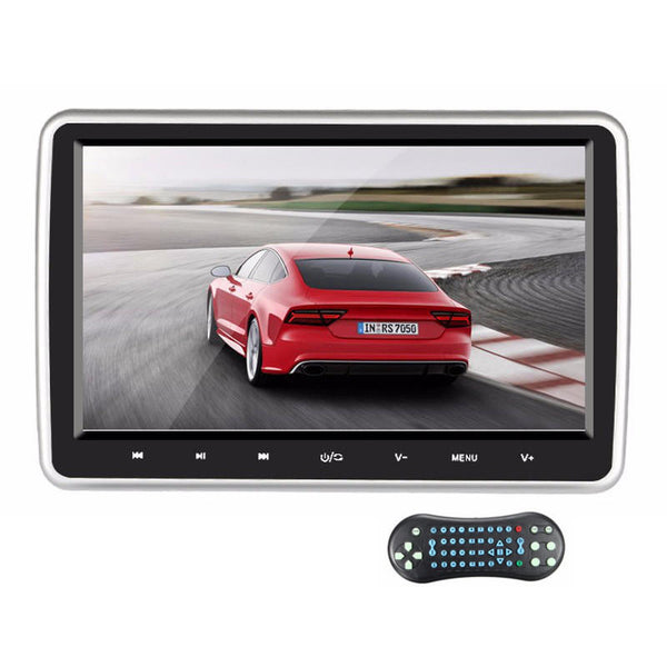 10.1Inch HD Car Headrest Monitor DVD Player Rear Seat Entertainment System Touch Button Screen with HDMI Port - Slabiti