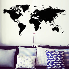 Modern House Removable World Map Wall Sticker Decoration For School Office House Wall  Decor Design - Slabiti