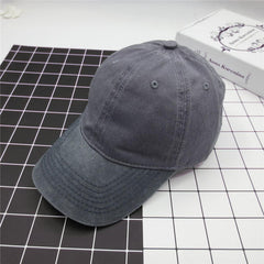 Unisex Washed Denim Baseball Hats Patchwork Two Tone Low Profile Six Panel Adjustable Vintage Hat - Slabiti
