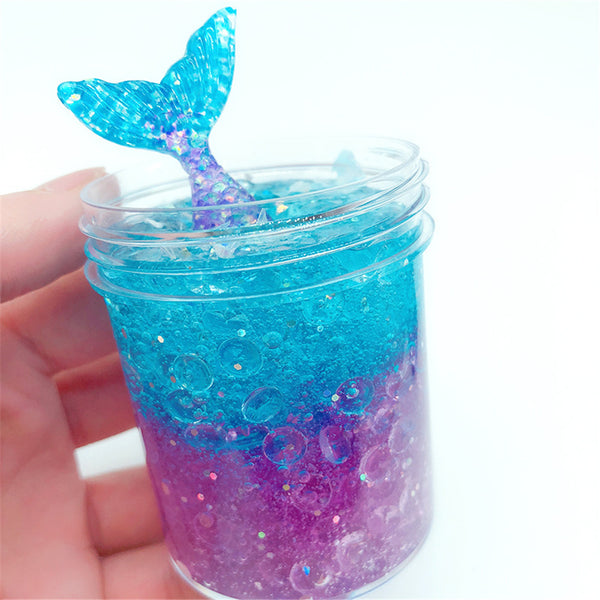 60ML Fishtail Slime Toy For Children Crystal Decompression Mud DIY Gift Stress Reliever - Slabiti