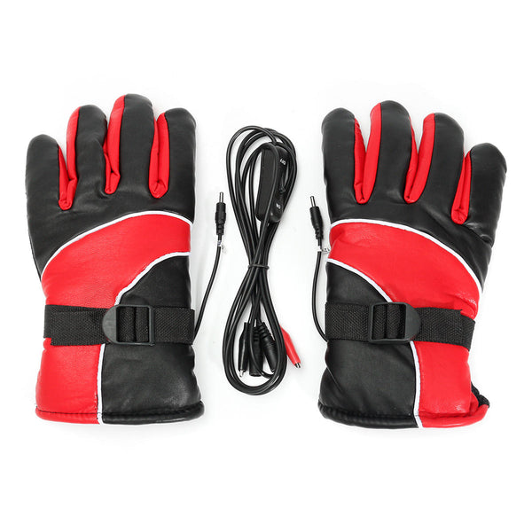 12V Warm Electric Heated Warmer Winter Gloves Motorcycle Scooter E-bike - Slabiti