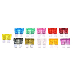 140Pcs Medium Blade Fuse Pack Kit 2A 5A 10A 15A 20A 25A 30A 40A AMP - Slabiti