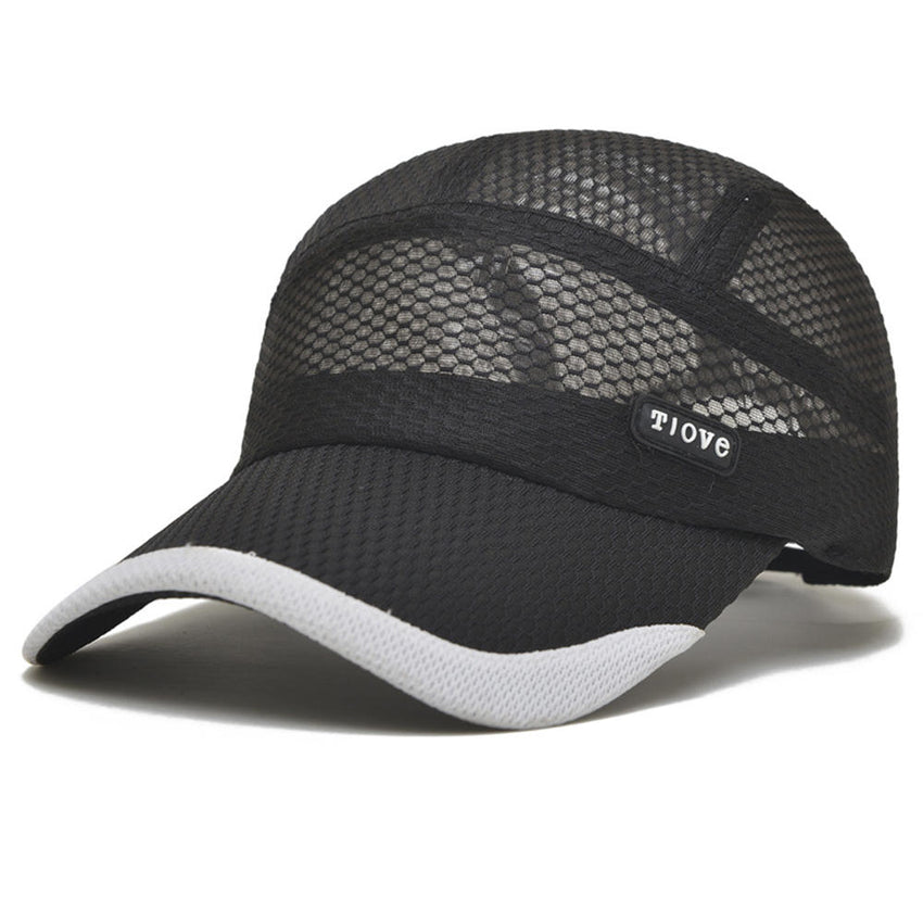 Cotton Dad Hats Men's Meah Baseball Cap Outdoor Breathable Visor Sun Hat - Slabiti