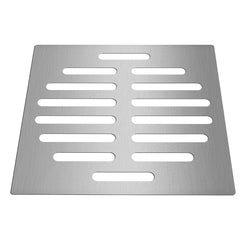6 Inch Silver Floor Drain Protector Tone Square Shape Stainless Steel Floor Drain Cover Home - Slabiti