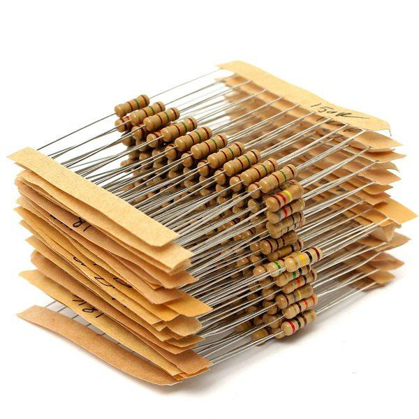 300pcs 30 Value 1ohm-3M 1/2W Carbon Film Resistor