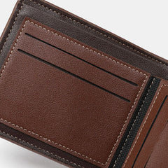 Men Vintage Faux Leather Card Holder Wallet - Slabiti