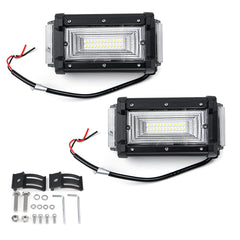2Pcs 5.5inch 40W 40LED 3200LM Work Light Waterproof Bar Combo Driving Lamp Offroad SUV ATV UTV 4WD - Slabiti