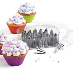 73Pcs Rotating Turntable Cake Decorating Tools Baking Mold Flower Icing Piping Nozzle - Slabiti
