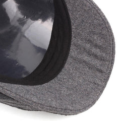 Mens Cotton Knitted Warm Beret Cap Buckle Adjustable Golf Sport Cabbie Forward Hat - Slabiti